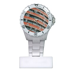 Architecture Building Glass Pattern Plastic Nurses Watch by Amaryn4rt