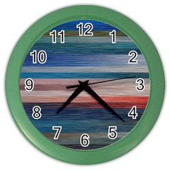 Background Horizontal Lines Color Wall Clocks by Amaryn4rt