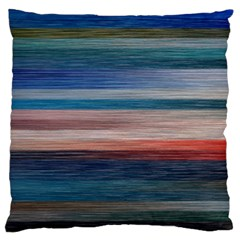 Background Horizontal Lines Large Cushion Case (one Side) by Amaryn4rt