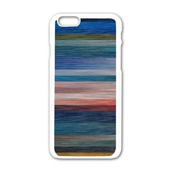 Background Horizontal Lines Apple Iphone 6/6s White Enamel Case