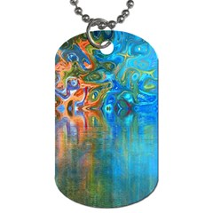 Background Texture Structure Dog Tag (one Side) by Amaryn4rt