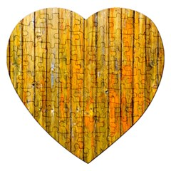 Background Wood Lath Board Fence Jigsaw Puzzle (heart) by Amaryn4rt