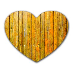 Background Wood Lath Board Fence Heart Mousepads by Amaryn4rt