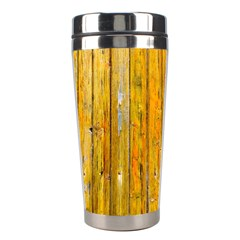 Background Wood Lath Board Fence Stainless Steel Travel Tumblers by Amaryn4rt