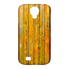 Background Wood Lath Board Fence Samsung Galaxy S4 Classic Hardshell Case (pc+silicone)