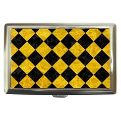 Square2 Black Marble & Yellow Marble Cigarette Money Case by trendistuff