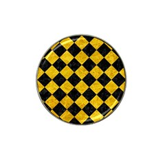 Square2 Black Marble & Yellow Marble Hat Clip Ball Marker (4 Pack) by trendistuff