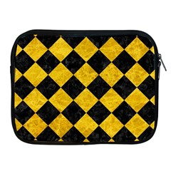 Square2 Black Marble & Yellow Marble Apple Ipad Zipper Case by trendistuff