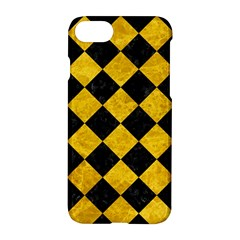 Square2 Black Marble & Yellow Marble Apple Iphone 7 Hardshell Case by trendistuff