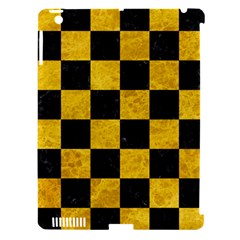 Square1 Black Marble & Yellow Marble Apple Ipad 3/4 Hardshell Case (compatible With Smart Cover) by trendistuff