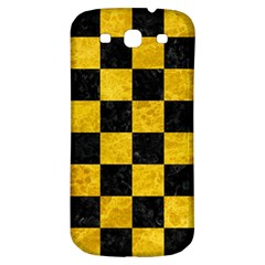 Square1 Black Marble & Yellow Marble Samsung Galaxy S3 S Iii Classic Hardshell Back Case by trendistuff