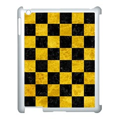 Square1 Black Marble & Yellow Marble Apple Ipad 3/4 Case (white) by trendistuff