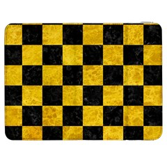 Square1 Black Marble & Yellow Marble Samsung Galaxy Tab 7  P1000 Flip Case by trendistuff