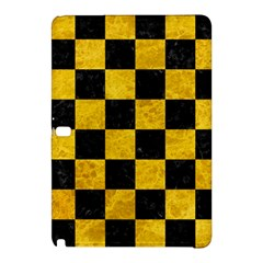 Square1 Black Marble & Yellow Marble Samsung Galaxy Tab Pro 12 2 Hardshell Case by trendistuff