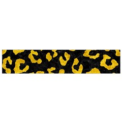 Skin5 Black Marble & Yellow Marble (r) Flano Scarf (small) by trendistuff