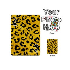 Skin5 Black Marble & Yellow Marble Playing Cards 54 (mini) by trendistuff