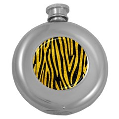 Skin4 Black Marble & Yellow Marble (r) Hip Flask (5 Oz) by trendistuff