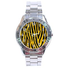 Skin4 Black Marble & Yellow Marble Stainless Steel Analogue Watch