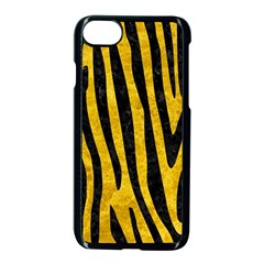 Skin4 Black Marble & Yellow Marble Apple Iphone 7 Seamless Case (black)
