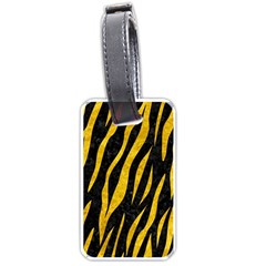 Skin3 Black Marble & Yellow Marble Luggage Tag (one Side) by trendistuff