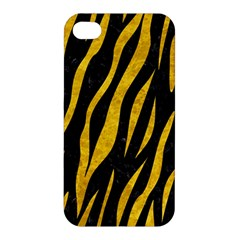 Skin3 Black Marble & Yellow Marble Apple Iphone 4/4s Premium Hardshell Case by trendistuff