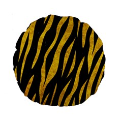Skin3 Black Marble & Yellow Marble Standard 15  Premium Round Cushion  by trendistuff