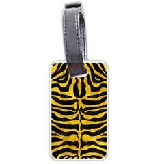 Skin2 Black Marble & Yellow Marble Luggage Tag (one Side) by trendistuff