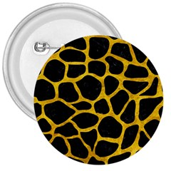 Skin1 Black Marble & Yellow Marble (r) 3  Button by trendistuff