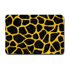 Skin1 Black Marble & Yellow Marble (r) Small Doormat by trendistuff