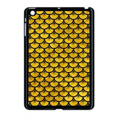 Scales3 Black Marble & Yellow Marble (r) Apple Ipad Mini Case (black) by trendistuff