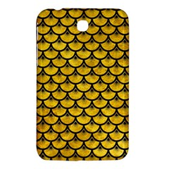 Scales3 Black Marble & Yellow Marble (r) Samsung Galaxy Tab 3 (7 ) P3200 Hardshell Case  by trendistuff