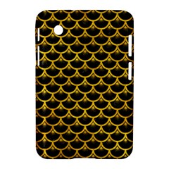 Scales3 Black Marble & Yellow Marble Samsung Galaxy Tab 2 (7 ) P3100 Hardshell Case  by trendistuff