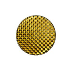Scales2 Black Marble & Yellow Marble (r) Hat Clip Ball Marker by trendistuff