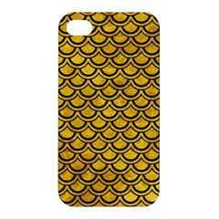 Scales2 Black Marble & Yellow Marble (r) Apple Iphone 4/4s Premium Hardshell Case by trendistuff