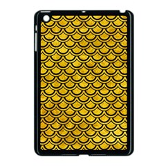 Scales2 Black Marble & Yellow Marble (r) Apple Ipad Mini Case (black) by trendistuff