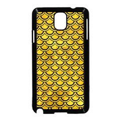 Scales2 Black Marble & Yellow Marble (r) Samsung Galaxy Note 3 Neo Hardshell Case (black) by trendistuff