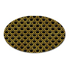 Scales2 Black Marble & Yellow Marble Magnet (oval) by trendistuff