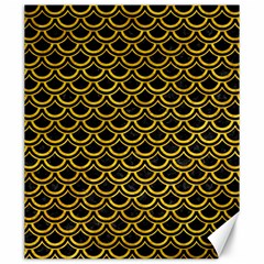 Scales2 Black Marble & Yellow Marble Canvas 20  X 24  by trendistuff