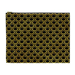 Scales2 Black Marble & Yellow Marble Cosmetic Bag (xl) by trendistuff
