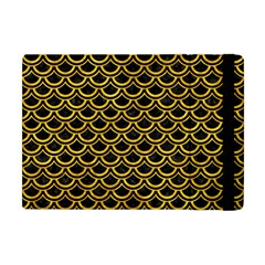Scales2 Black Marble & Yellow Marble Apple Ipad Mini Flip Case by trendistuff