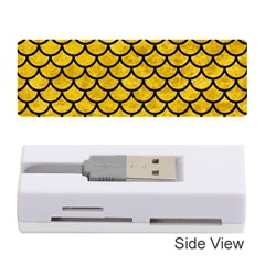 Scales1 Black Marble & Yellow Marble (r) Memory Card Reader (stick) by trendistuff