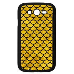 Scales1 Black Marble & Yellow Marble (r) Samsung Galaxy Grand Duos I9082 Case (black) by trendistuff