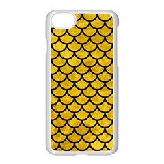 Scales1 Black Marble & Yellow Marble (r) Apple Iphone 7 Seamless Case (white) by trendistuff