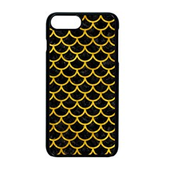 Scales1 Black Marble & Yellow Marble Apple Iphone 7 Plus Seamless Case (black)