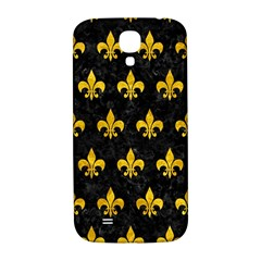 Royal1 Black Marble & Yellow Marble (r) Samsung Galaxy S4 I9500/i9505  Hardshell Back Case by trendistuff