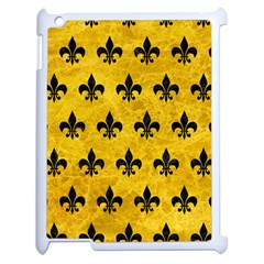 Royal1 Black Marble & Yellow Marble Apple Ipad 2 Case (white) by trendistuff