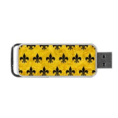 Royal1 Black Marble & Yellow Marble Portable Usb Flash (two Sides) by trendistuff