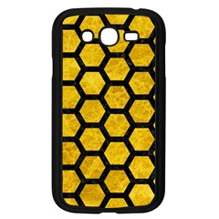 Hexagon2 Black Marble & Yellow Marble (r) Samsung Galaxy Grand Duos I9082 Case (black) by trendistuff