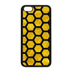 Hexagon2 Black Marble & Yellow Marble (r) Apple Iphone 5c Seamless Case (black) by trendistuff