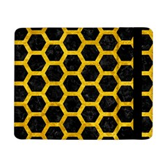 Hexagon2 Black Marble & Yellow Marble Samsung Galaxy Tab Pro 8 4  Flip Case by trendistuff